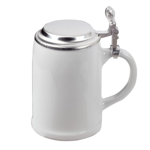 Oktoberfest Beer Mug with Tin Lid white